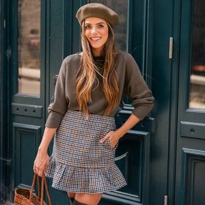 J.Crew Ruffle plaid mini skirt  gal meets glam)